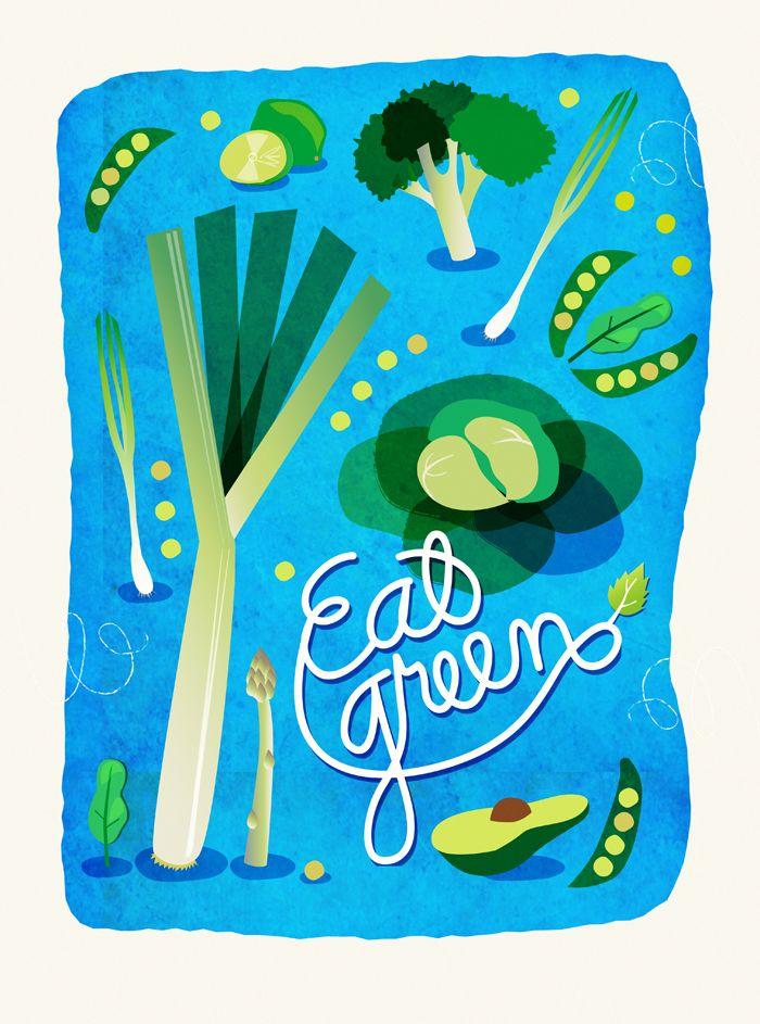 Eat green poster.