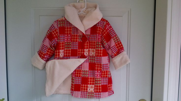 Child's Red Car Coat 18 Months C124/15 by zoya49 on Etsy