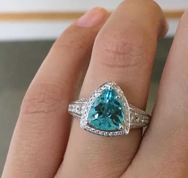 Simple Paraiba tourmaline Wedding RingsPiercingsEngagement