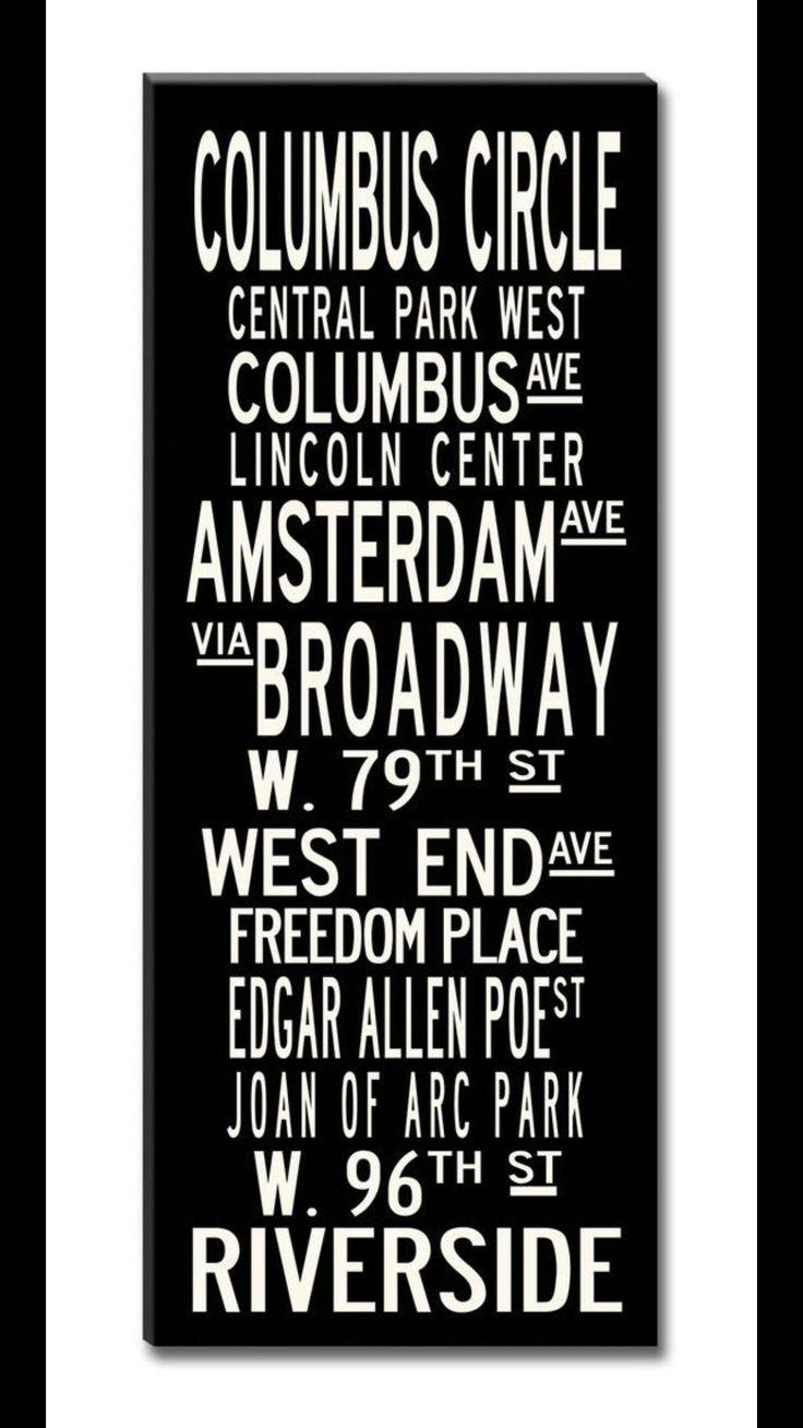 Upper West Side-  My 'Hood!