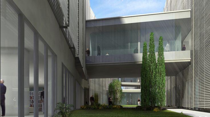 Render exterior Edificio OAMI. Alicante. España