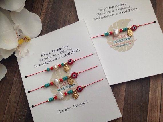 Madre e Hija bracelet set. Hilo rojo de amor por CaroAccessories