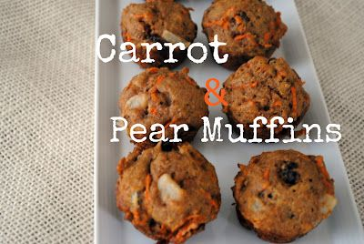 I think I'll make these as mini muffins for the lunch box: Carrot Pear Muffin Recipe