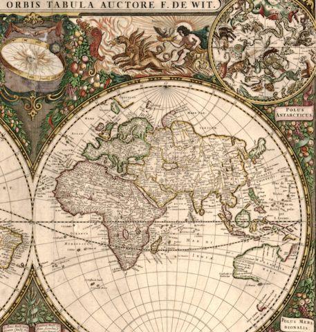 Best ANTIQUE WORLD MAPS Images On Pinterest Antique Maps - World map p