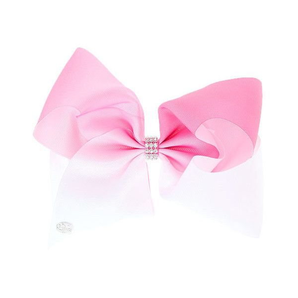 JoJo Siwa Large White & Pink Ombre Signature Hair Bow   Claire's and other apparel, accessories and trends. Browse and shop 7 related looks.