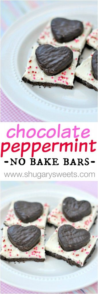 Easy, no bake, Chocolate Peppermint Bars are sure to be a hit as an delicious after dinner mint!