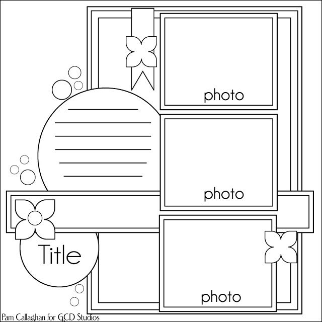 Triple photo layout.  Get scrapbooking supplies at Flower Factory www.flowerfactory.com