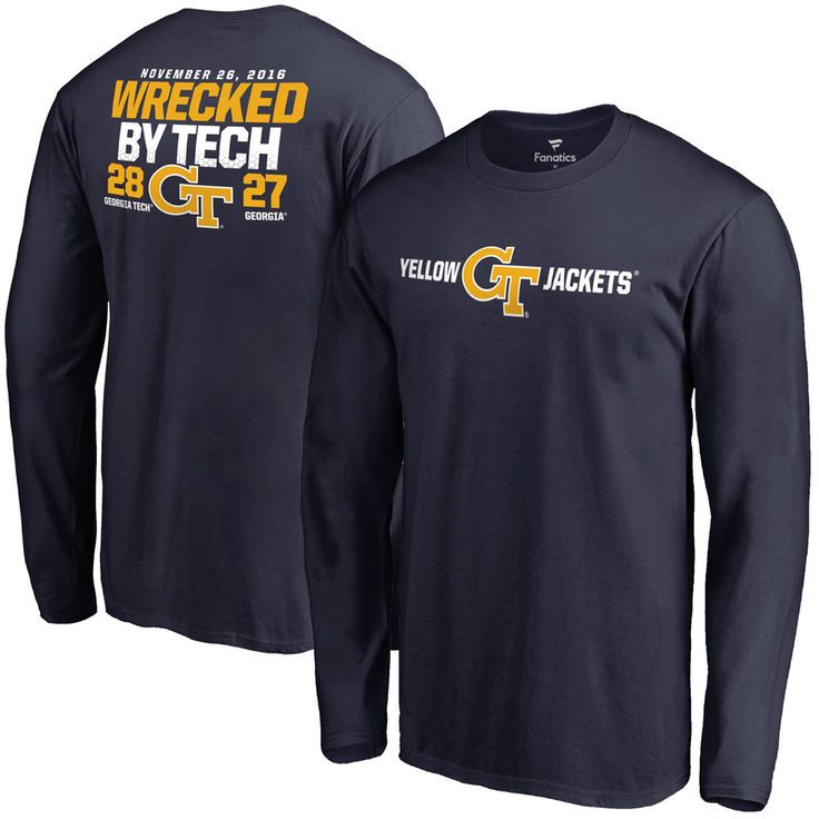 GA Tech Yellow Jackets vs. Georgia Bulldogs Fanatics Branded 2016 Score Long Sleeve T-Shirt - Navy - $29.99