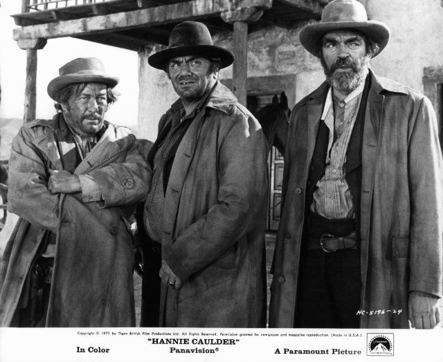 """Strother Martin, Ernest Borgnine & Jack Elam - """"Hannie Caulder"""""""