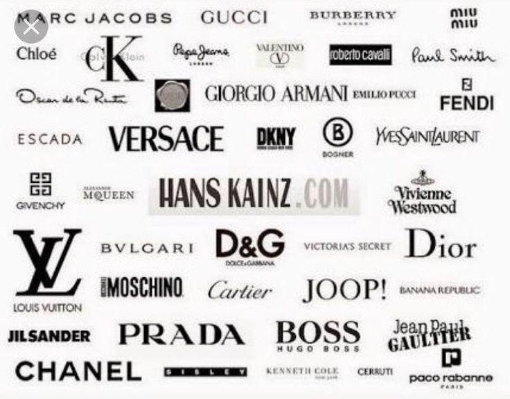 Top brands Logos de marcas famosas, Logotipo de ropa