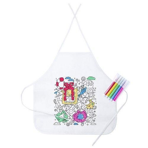 Delantal Tizy de non woven, talla única, trae con 5 rotuladores para que el niño pueda pintar el delantal a su gusto. Ideal para regalar a niños en cumpleaños.#regalospersonalizados #articulospromocionales #regalospersonales #regalospublicitarios #regalosdeempresa #regalospublicitariosbaratos #regalospromocionales