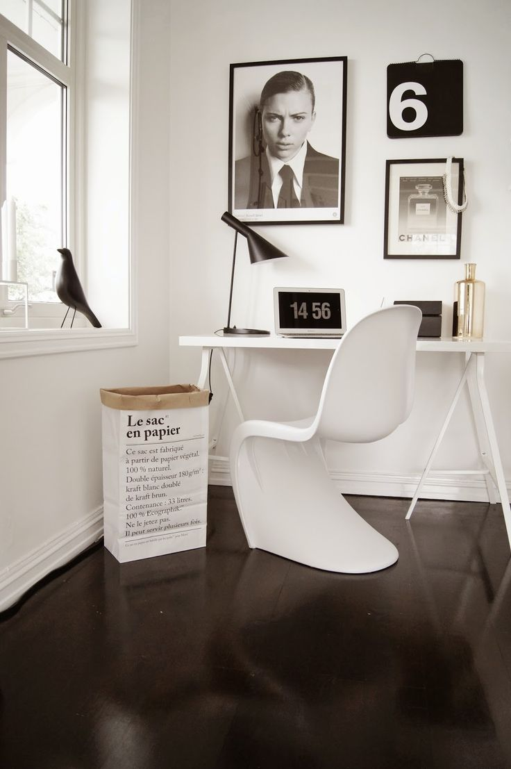 design inspiration. Minimal black and white with bold shapes. Panton chair #whitearmchair #diningroomchairs #chairdesign upholstered dining chairs, modern chairs ideas, upholstered chairs | See more at http://modernchairs.eu
