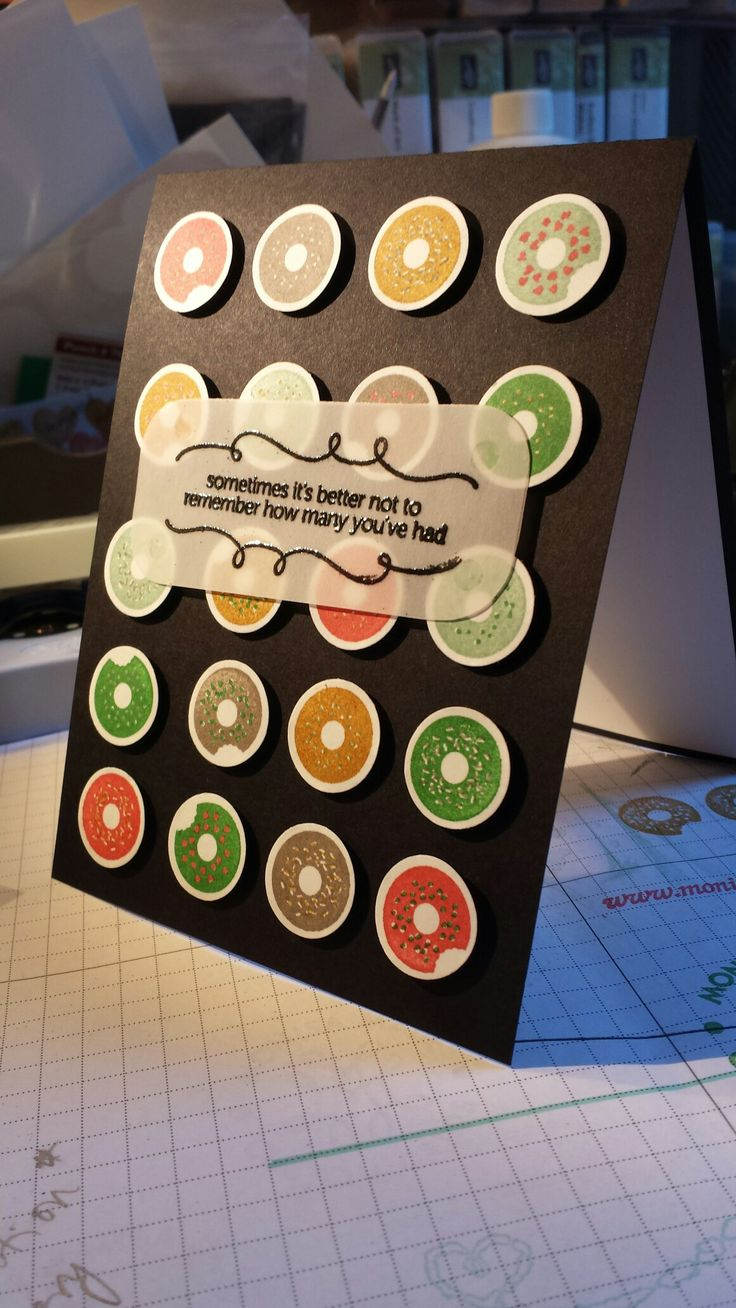 Brian's birthday card. 15-16 in colours. Sprinkles on Top. Stampin Up.