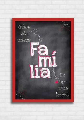 Poster estilo Lousa - Família - Sabrina Matias TO8318