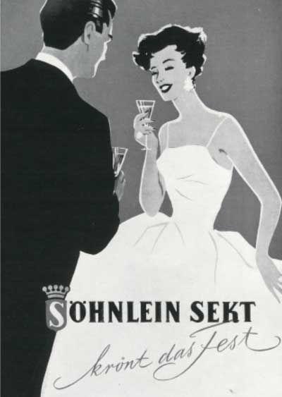 Alte Werbung Söhnlein Brillant