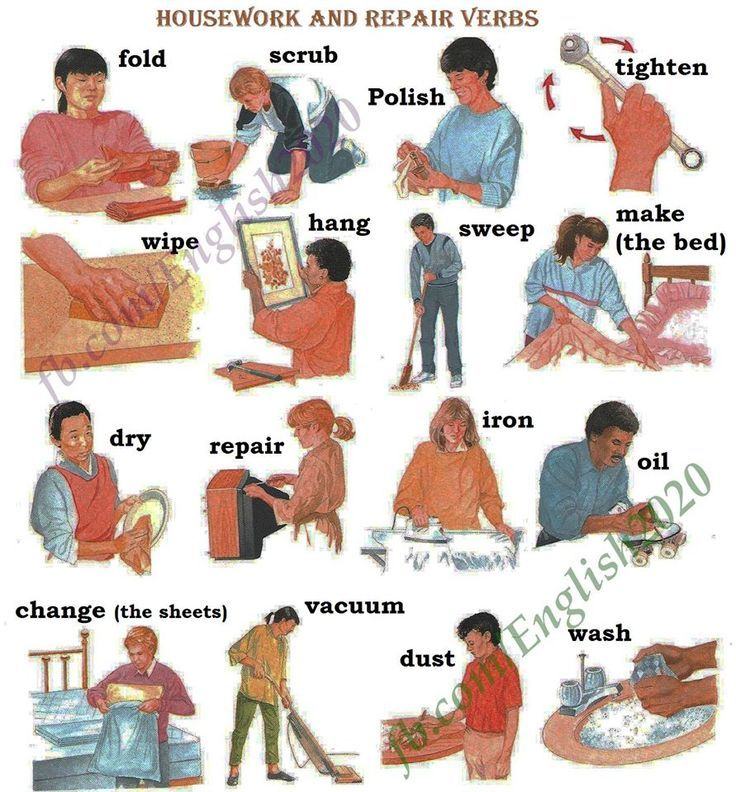 Forum | ________ Learn English | Fluent LandHousework and Repair Verbs in English | Fluent Land