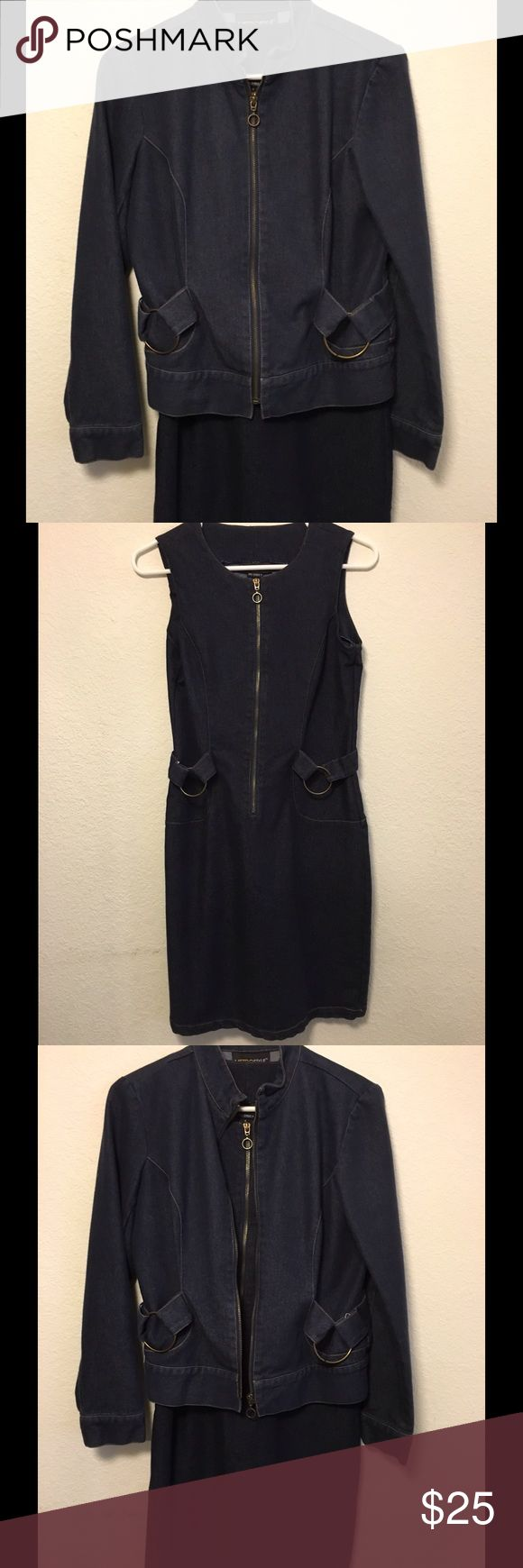 🆕 Listing🎉Cute Denim Dress With Matching Jacket Excellent condition! Denim zip up dress with matching zip up jacket wear alone or together. Above knee. Metrostyle Dresses Midi