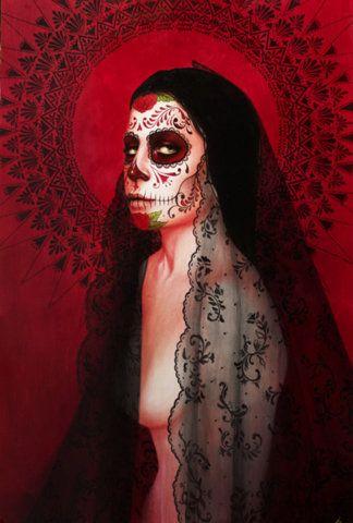 supersonic electronic / art - Brand new work by Sylvia Ji. This brand new piece...: Ji Art, Sylvia Ji, Sugar Skull, Of The, Artsy Fartsy, Mexicans Skull, Dead, Day, Black Virgin