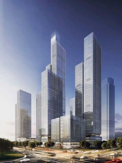 Nanjing Financial City – Phase II by von Gerkan, Marg and Partners (gmp) | #architecture