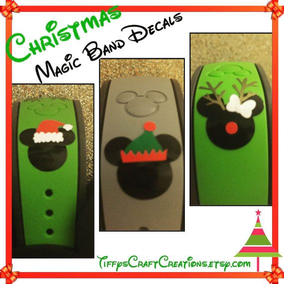 Christmas Magic Band Decals Santa hat Elf by TiffysCraftCreations