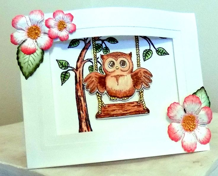 DTGD Swinging Owl by Shoe Girl - Cards and Paper Crafts at Splitcoaststampers