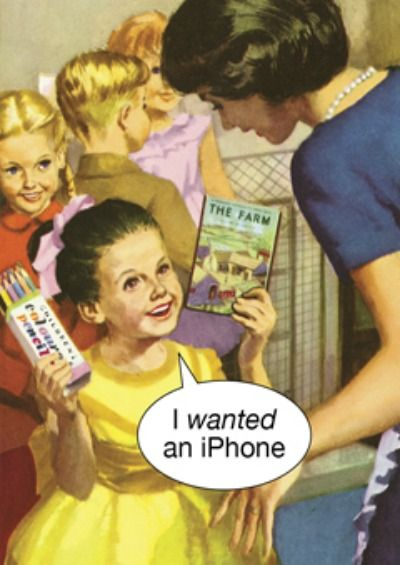 I wanted an i-phone - Simon Spicer Cards