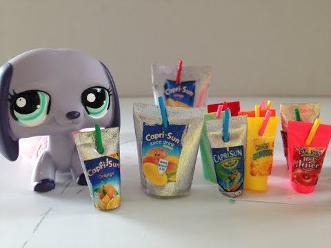 How to make LPS/Doll Drink Pouch/Capri Sun - YouTube