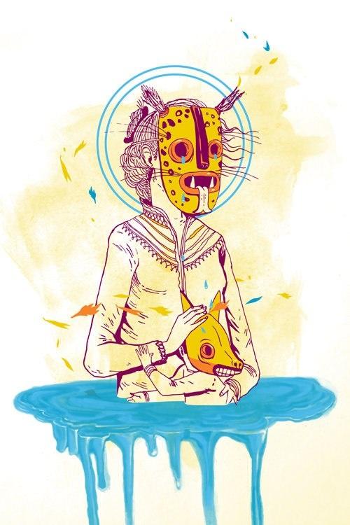Saner. Animal mask.
