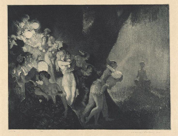 Norman Lindsay - Moonlight's Piper, 1925