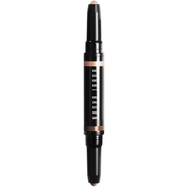 Bobbi Brown Dual-Ended Long-Wear Cream Shadow Stick, Havana Brights... found on Polyvore featuring beauty products, makeup, face makeup, dusty mauve, greige, heather steel, nude beach, peach mimosa, truffle and bobbi brown cosmetics