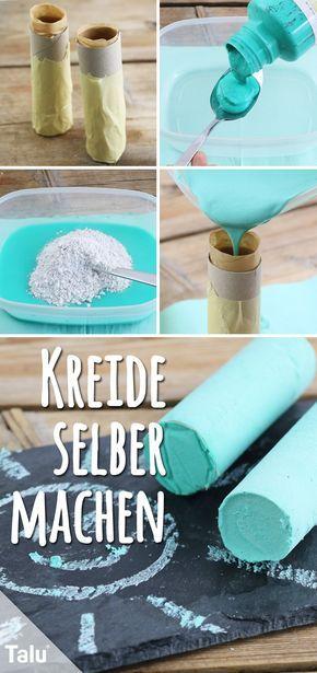 Kreide selber machen – DIY-Anleitung mit und ohne Gips