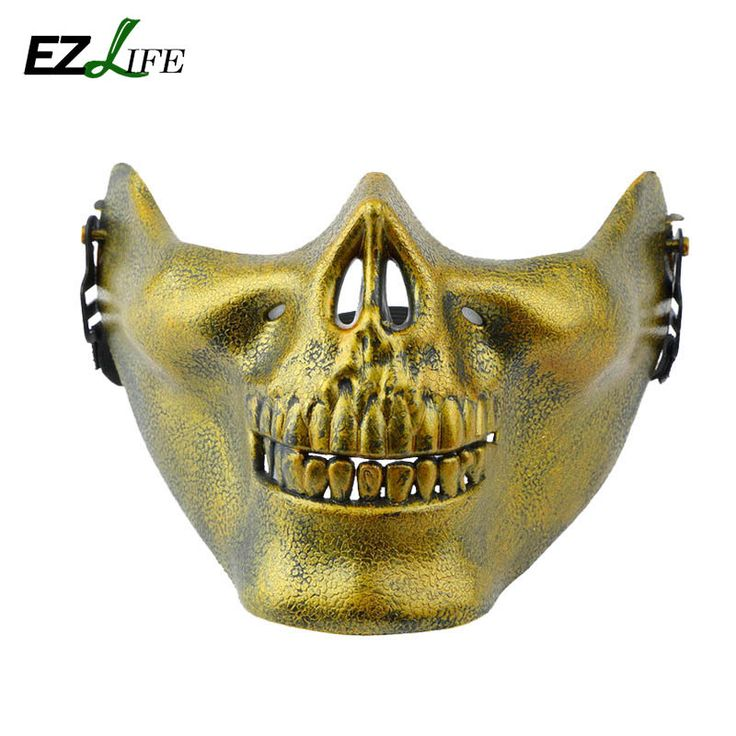 >> Click to Buy << Hot Skeleton Mask Half Face Actual Combat Warrior Face Masks Halloween scary mask Worldwide CT0254 #Affiliate