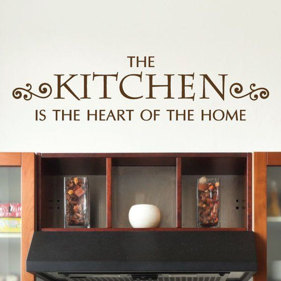 wall quote decal kitchen heart of home kitchen home dining room