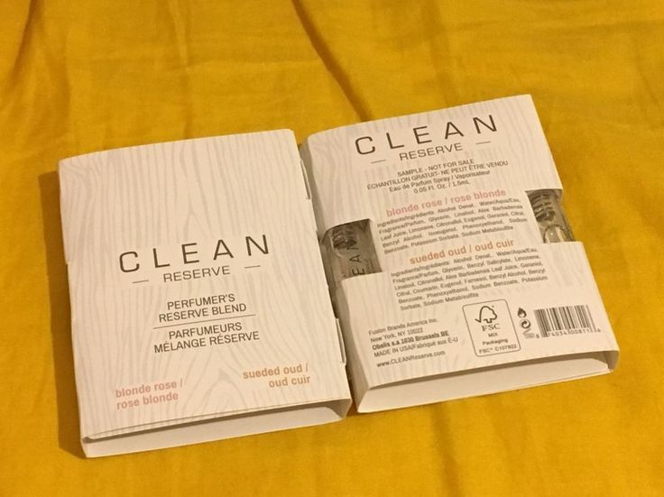 Clean Reserve Perfumer's Reserve Blend Blonde Rose Sample 0.05floz /1.5 X 4 tube #Clean