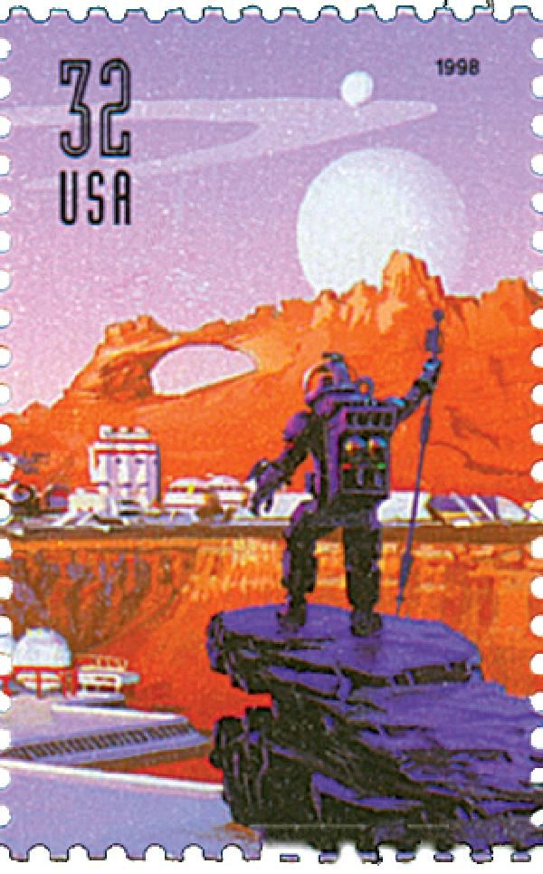 1998 32c Person in space suit for sale at Mystic Stamp Company $1.40