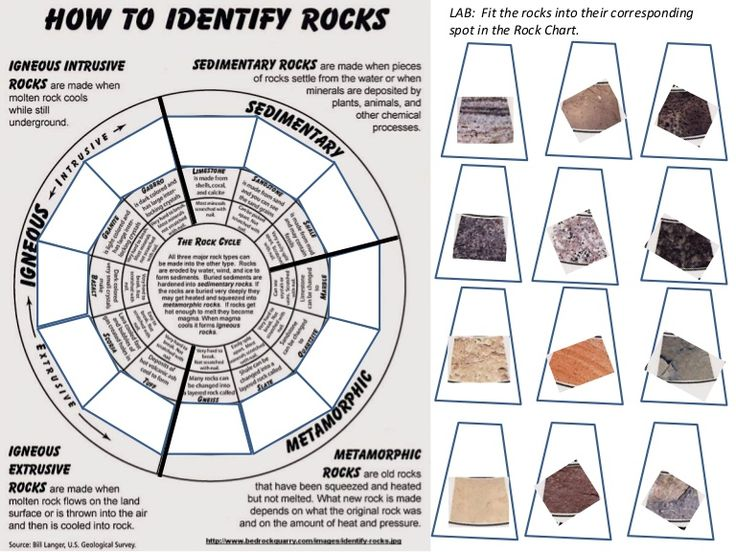 Identify 12 Common Rocks By Means Of The Rock Chart