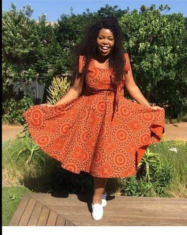 0e04dfa0dde Elegant Shweshwe Dresses Pictures 2018