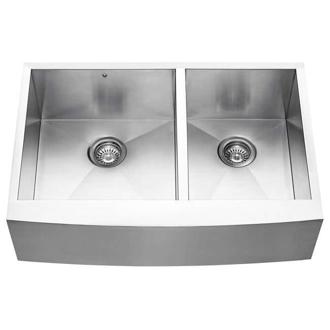 Zero Radius Kitchen Sink Part - 17: VIGO Curved Apron Front Stainless Steel Zero Radius Sink. Farmhouse Kitchen  ...
