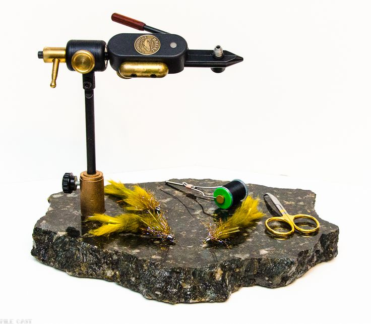 Gorgeous granite fly tying vise base