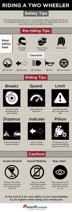 The rains are just around the corner. In such whether, riding a motorcycle can be a lot more dangerous than driving a car, but by following a simple safety tips, you can ensure that you get to your destination safety.