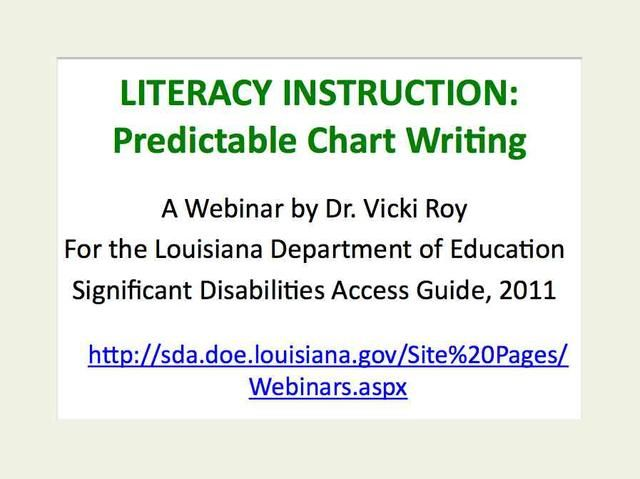 This free webinar is presented by Dr. Vicki Roy for the Louisiana Department of Education, Significant Disabilities Division. Pred Chart Webinar.jpg