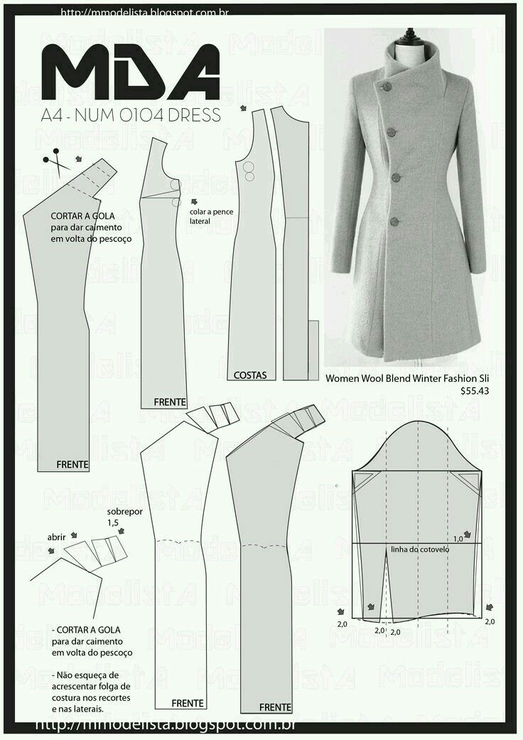 20 best como sacar patrones images on Pinterest | Sewing patterns ...
