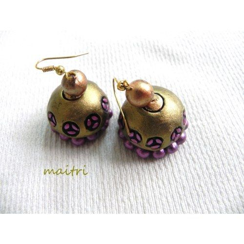 how to make clay jhumkas