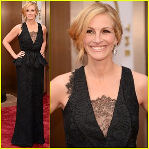 Academy Award nominee for Best Supporting Actress, Julia Roberts (August: Osage County).