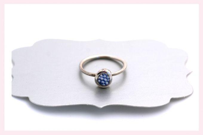 Ceramic and Silver Ring by Janine Binneman Jewellery Design on hellopretty.co.za