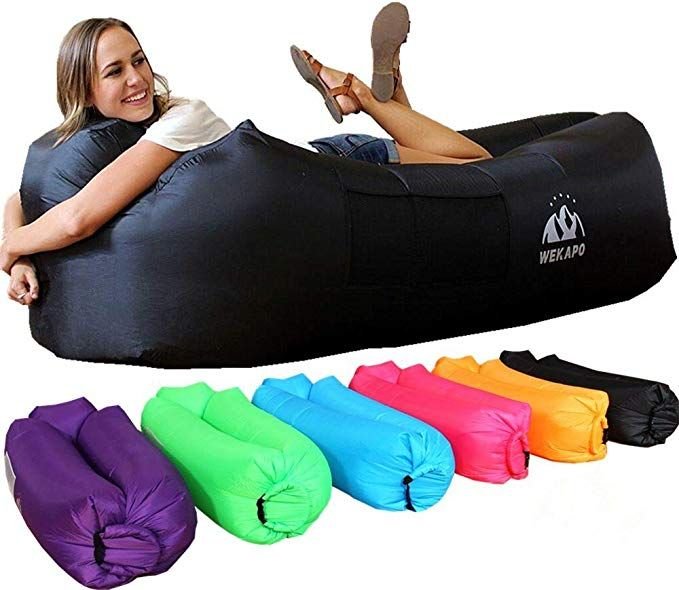 Inflatable Air Sofa Portable Water Proof/& Anti-Air Leaking Inflatable Pouch Couch with Carrying Bag for Outdoor Camping Hiking Travel Pool Beach Picnic/