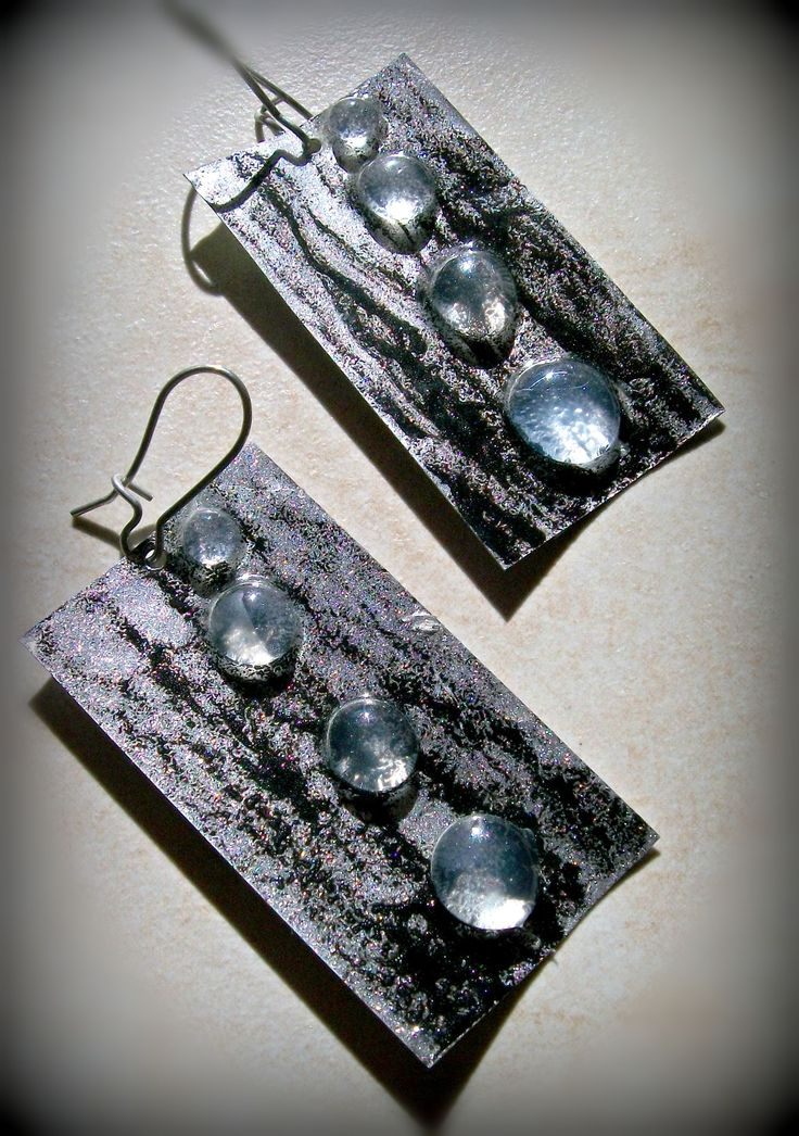 earrings made from hot glue