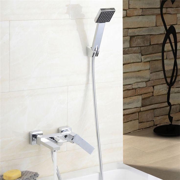 Handbrause+Zugumsteller Wasserhahn Duscharmatur Badewannenarmatur Duschgarnitur