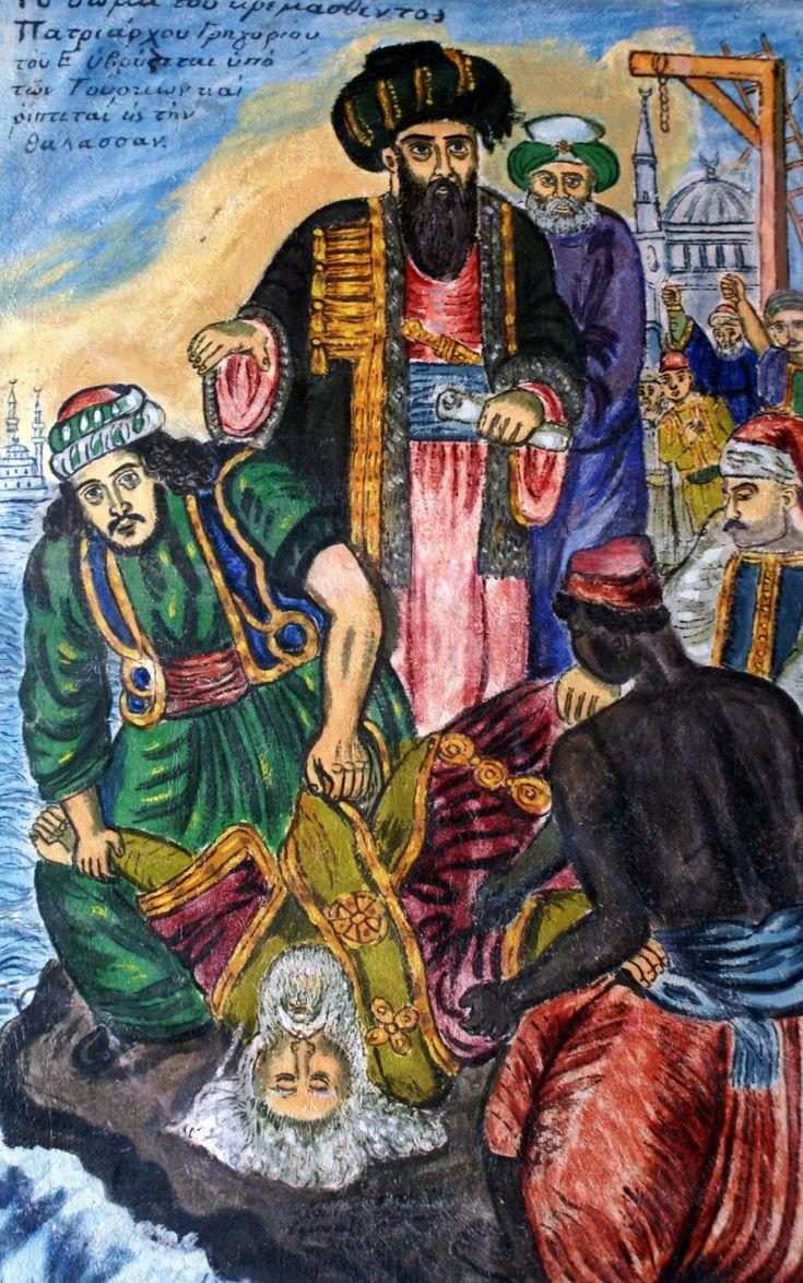 Χατζημιχαήλ Θεόφιλος-Το σώμα του κρεμασθέντος πατριάρχου Γρηγορίου
