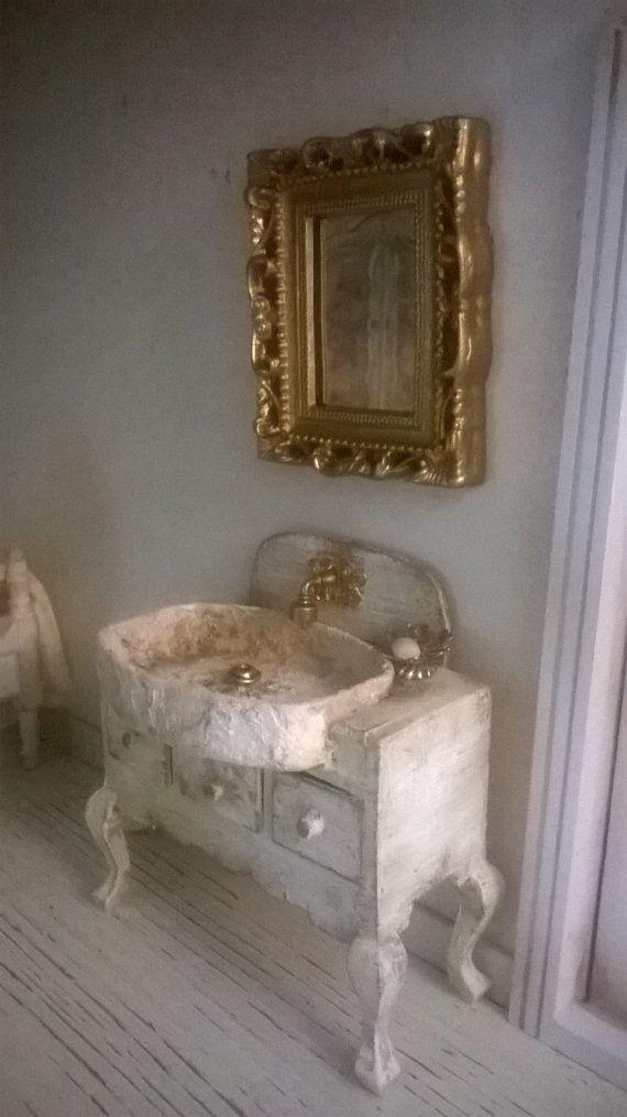 Photo Album For Website Miniature Dollhouse BATHROOM CABINET with MIRROR bathroom Cabinet with mirror